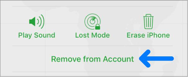 Remove Fom Account on icloud.com